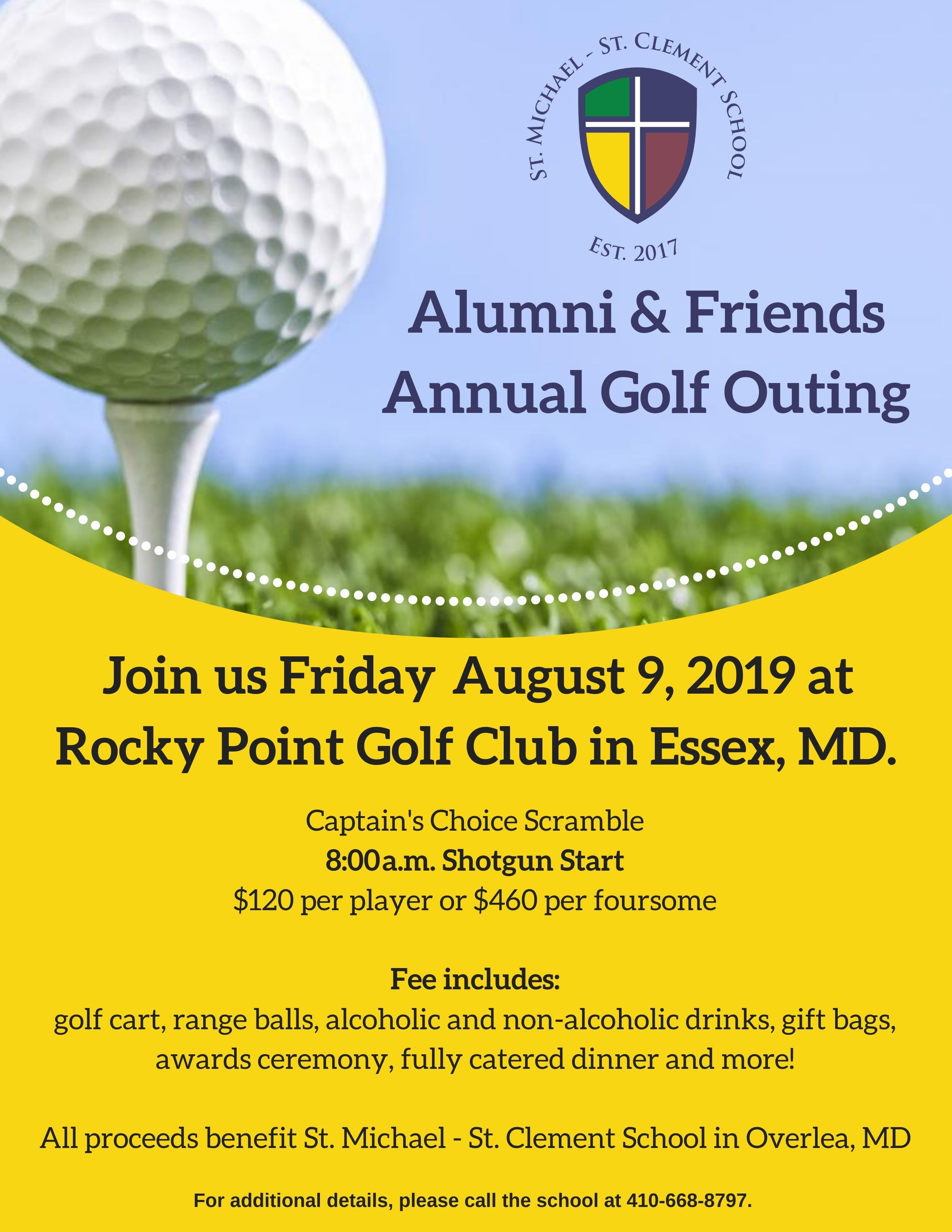 e105712bd5 Golf Outing | St. Michael - St. Clement School in Overlea, Md